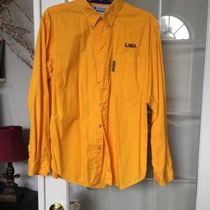 LSU button down long sleeve shirt size S